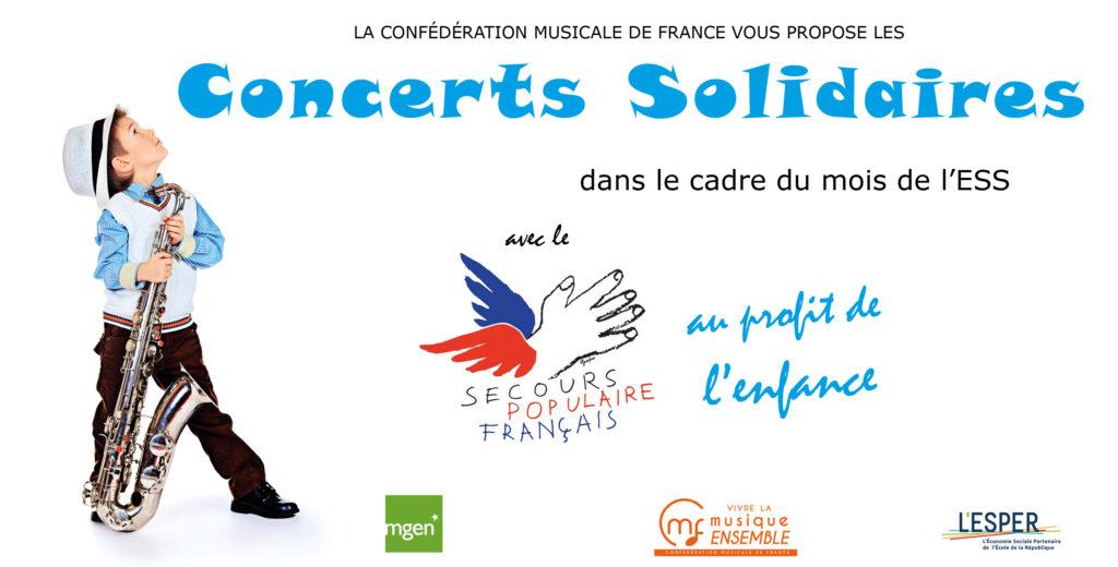 Concert solidaire au profit du Secours Populaire le 8 novembre 2021 à Paris, réservez vos places !