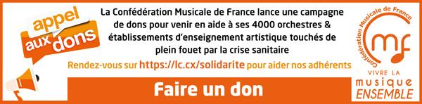 Aidons nos écoles et orchestres en situation précaire à cause de la crise sanitaire Covid-19